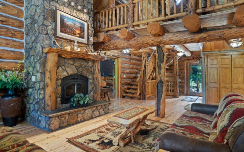 Black Hills Cabin 18 Living Room