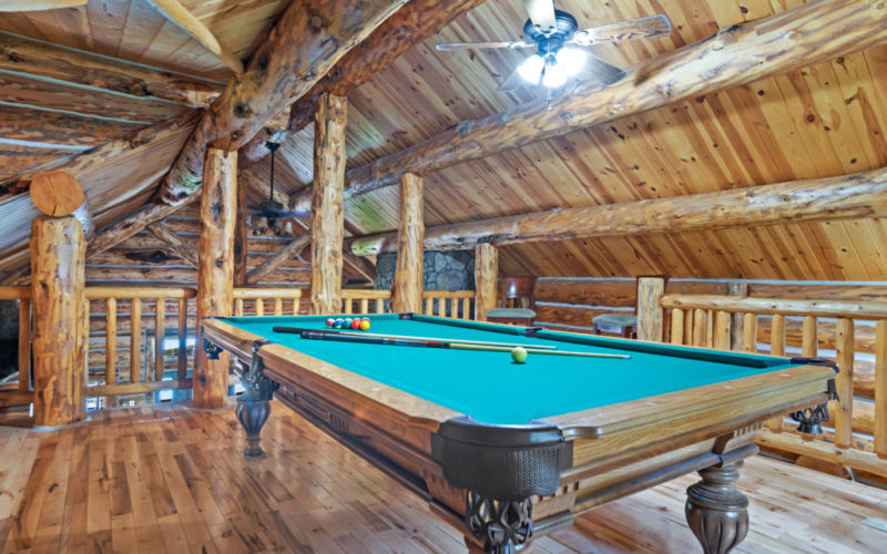 Black Hills Cabin 18 Pool Table