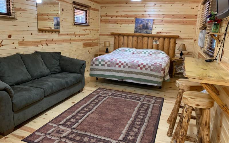 Rental Cabin 14 - Bed