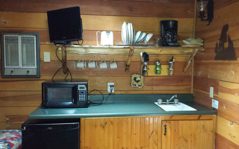 Cabin Rental #5 Kitchenette