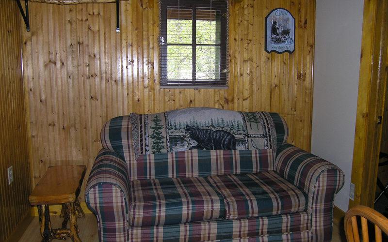 Cabin Rental - Cabin 2 Living Room